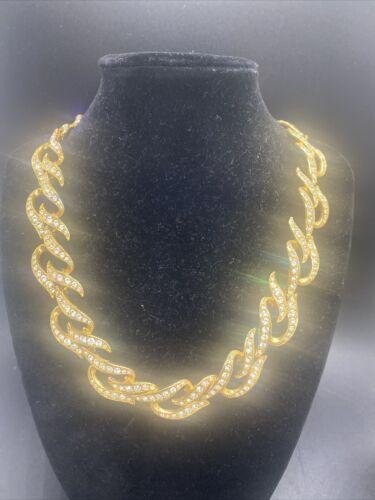 Vintage Elizabeth Taylor for Avon Gold Tone Rhines