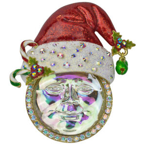 Kirks-Folly-Seaview-Ice-Moon-Santa-Pin-Pendant-Goldtone-with-KF-Gift-Box