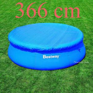 b ware bestway pool abdeckplane 366cm poolabdeckung fast set quick up pool 366cm ebay. Black Bedroom Furniture Sets. Home Design Ideas