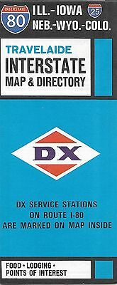 1968 DX Gas Station Locator Road Map Directory INTERSTATE 80 Chicago Map Gas Stations Along Route on gas station vintage route 66, gas stations on route, gas station signs, gas station attendant job description, gas station murals, gas station pump, gas station 1950s, gas station clip art, gas stations along i-81,