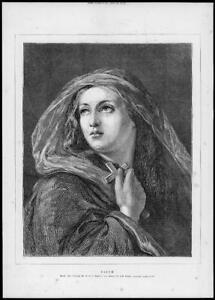 1872 Antique FINE ART Print - FAITH William Charles Thomas Dobson (83)