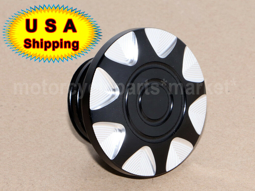 Black Motorcycle Fuel Gas Oil Tank Cap Cover for Harley Sportster Softail