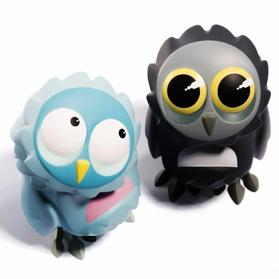 Coarsetoys OSie BLINK HOOT & HUSH 3.5  VINYL ART FIGURE owl coarse toys figurine