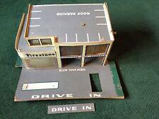 VINTAGE FIRESTONE TOY SERVICE STATION GARAGE DRIVE IN WOOD CARDBOARD UNUSUAL