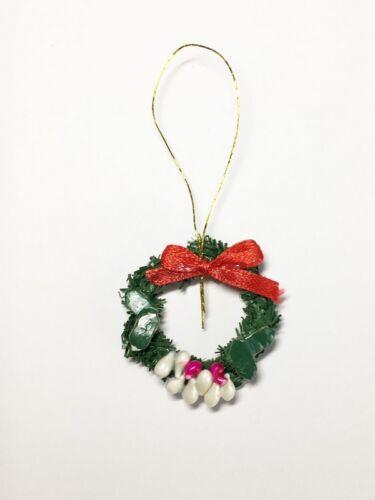 4874sm Casa de muñecas en miniatura Corona de Navidad Pequeño decoración de tiempo de Navidad