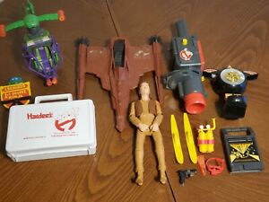 Vintage Toy Vehicle Lot and Accessories Assorted 1960s 70s 80s Ghostbusters WWF