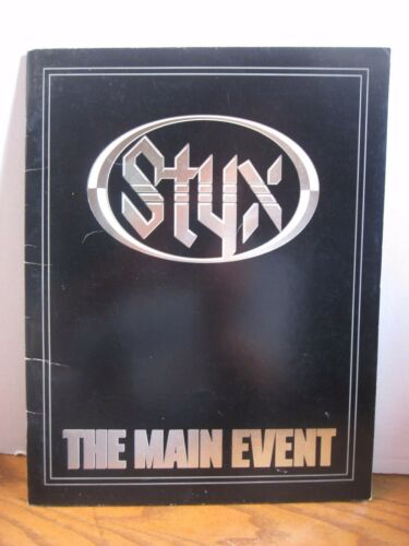 Styx Concert Program Book - The Main Event - 1978
