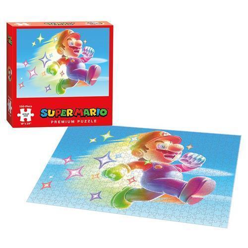 Super Mario Bros Star Power Puzle Rompecabezas 550 Pieza Real Size 18 X 24