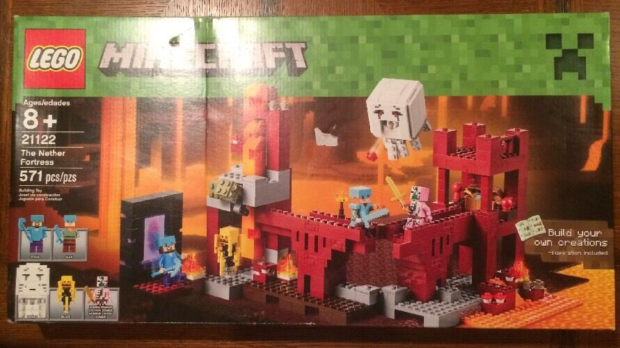 LEGO Minecraft 21122 the Nether Fortress Building Kit Brand Nuovo