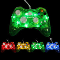 Glow Light USB Wired Remote Controller Gamepad For Microsoft Xbox 360 & PC