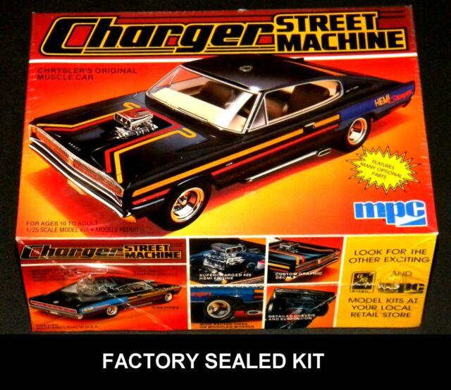 Vintage Mpc 1967 Charger Street Machine Car Model Kit 1 25 1984 1