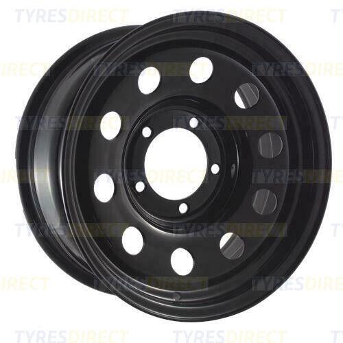 x4 16x7 BLACK GOJO/'S MODULAR STEEL WHEELS 5x139.7 ET00 SUZUKI