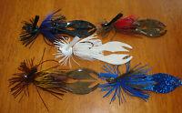 5 Custom Handmade Bass Fishing Jigs 1/4 3/8 1/2oz