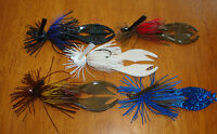 5 Custom Handmade Bass Fishing Jigs 1/4 3/8 1/2oz