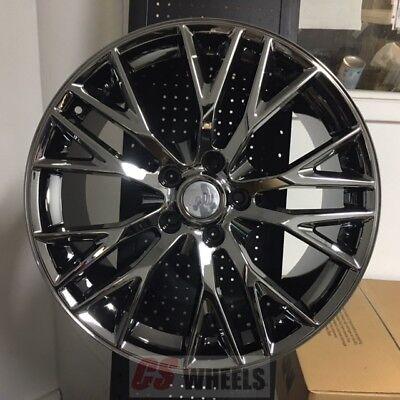 18 19 Z06 Zo6 Style Black Chrome Wheels Rims Fits 05 13 Chevy Corvette C6 Base Ebay