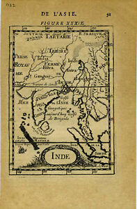 Map Of Asia Ganges River.Details About 1683 Genuine Antique Map India Ceylon Se Asia Ganges River By A M Mallet