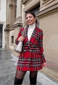 8584 609 Blazer en Taille rouge carreaux Réf tweed M Zara à ZpUwZ6xzq7