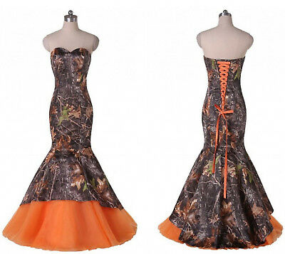 New Mermaid Camo Wedding Dresses Formal Camouflage Lace Up Bridal Gowns Custom Ebay