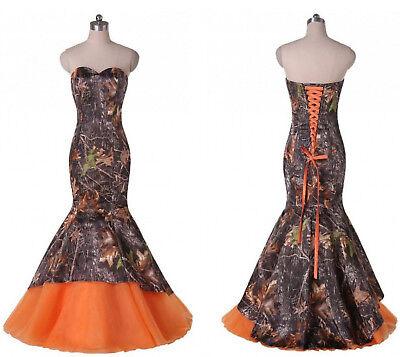 Camo Wedding Dresses.New Mermaid Camo Wedding Dresses Formal Camouflage Lace Up Bridal Gowns Custom Ebay