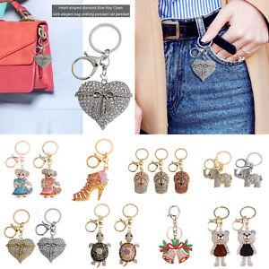 Key-Chain-Crystal-Rhinestone-Keyring-Keychain-Bag-Purse-Car-Charm-Xmas-Pendant