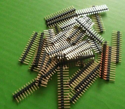 """Encabezado de Pin 16 Way snapable Sil Recto PCB 2.54 mm 0.1/"""" X 20 un = 320 clavijas de oro"""