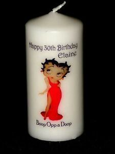 Image Is Loading 18th 21st 30th Betty Boop BIRTHDAY CANDLE Gift