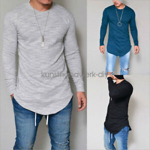 Fashion-Men-039-s-Slim-Fit-V-Neck-Long-Sleeve-Muscle-T-shirt-Casual-Tops-Blouse-KUS