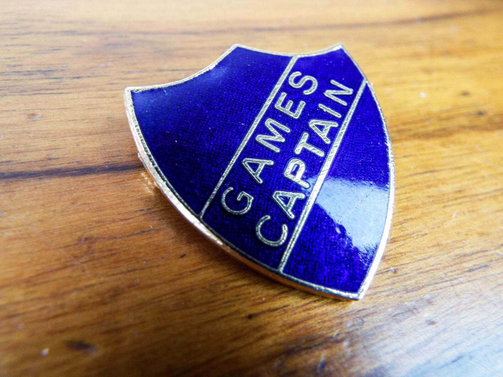 100/% Attendance Pin Badge in Yellow Enamel Shield