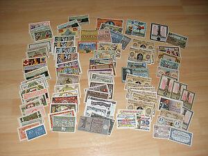 1-Lot-Serienscheine-Notgeld-Papiergeld-100-verschiedene-Scheine