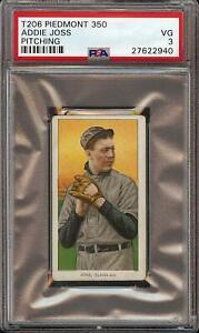Rare-1909-11-T206-HOF-Addie-Joss-Pitching-Piedmont-350-Cleveland-PSA-3-VG