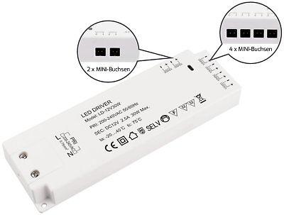 6 MINI-AMP-BOCCOLE-Trasformatore LED adatto LED Trasformatore 2in1 30w 230v /> 12v