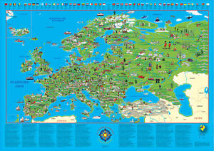 Europe Topographic Map Posters And Prints Posterlounge Com