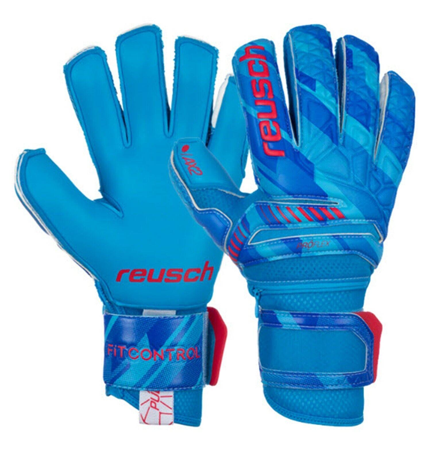 Reusch hombres portero Fit Control Pro AX2 Guantes De Portero Azul partido de fútbol 3970450121