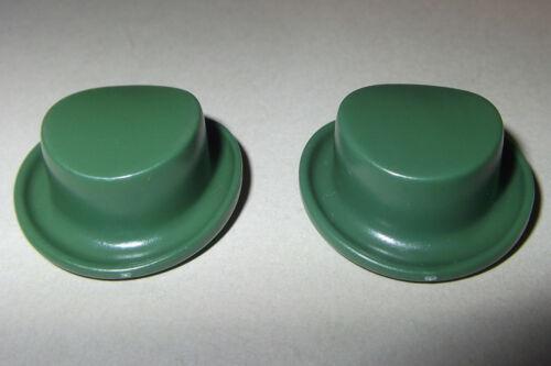 Kutscher 2x Hut Cowboy dunkelgrün flacher Zylinder 15299
