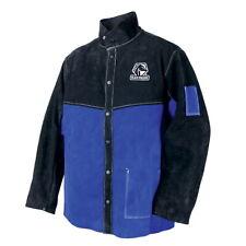 Black Stallion Blueblack Color Block Leather Welding Jacket Med Jl1030 Bb