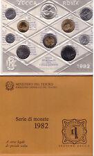 ITALIA: 1982 DIVISIONALE FDC 10 MONETE, CON LIRE 500 CARAVELLE ARGENTO