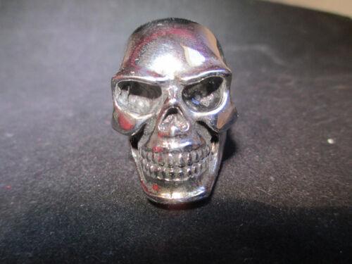 Enorme cráneo de plata pulida Anillo Acero Inoxidable Harley Motociclista Varios Tamaños