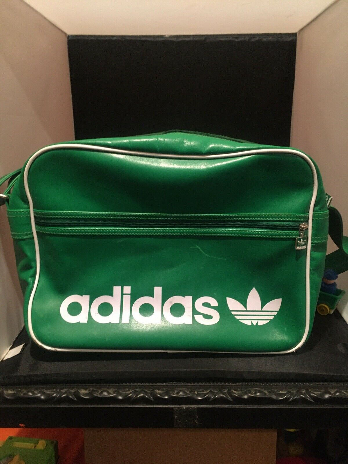 Adidas Trefoil Carry On Laptop Work Bag Larry Bird Green Wicked Cool Great Shape