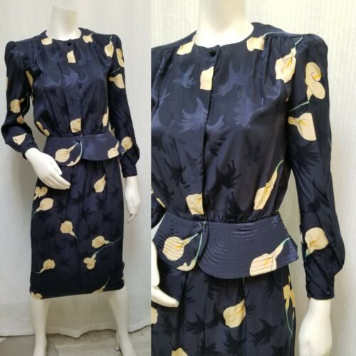Vintage MAGGY LONDON By JEANNENE BOOHER Silk Peplu