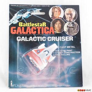 Battlestar Galactic Vintage 1978 Galactic Cruiser red diecast vehicle by Larami