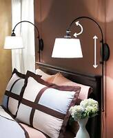 Set Of 2 Adjustable Wall Light Bedroom Headboard Reading Lamps Mounted Modern
