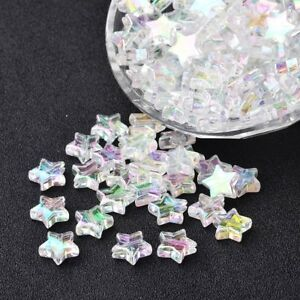 20PCS 8MM 10MM TRANSPARENT BUTTERFLY SHAPED GLASS BEADS FOR JEWELLERY MAKING