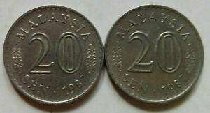 Parliament Series 20 sen coin 1987 2 pcs
