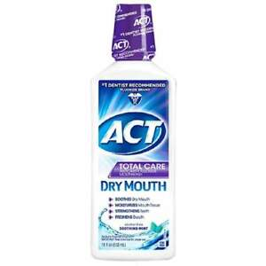 Act Mouthwash Dry Mouth >> Act Total Care Alcohol Anticavity Fluoride Mouthwash Dry Mouth Rinse