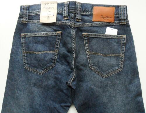 "PEPE JEANS Cane Men/'s Slim Fit Straight Leg New Dark Blue Sizes W34/"",36/"",38/"""