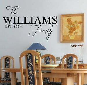 personalized family name amp date vinyl wall decal sticker
