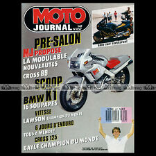 MOTO JOURNAL N°857 ★ BMW K1 ★ GRAND PRIX, JEAN-MICHEL BAYLE, ISDE 1988