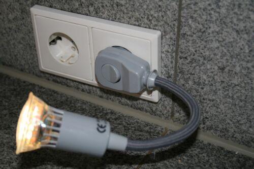 230 V Interrupteur Émetteur avec connecteur Projecteurs lampadaire liseuse DEL 1 W gu10 gris