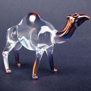 Camel-Figurine-Hand-Blown-Glass-Gold-Crystal-Sculpture