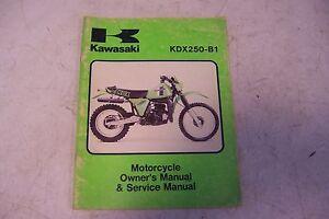 kawasaki kdx250 service manual kdx250 b1 kdx 250 mp 99963 0038 01 ebay rh ebay com kawasaki kdx 250 service manual kawasaki kdx 250 service manual